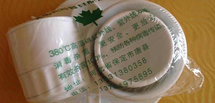 Tableware in plastic