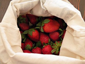 Plastic-free strawberries