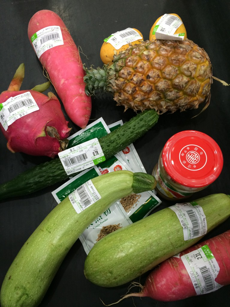 Veggies with price tags