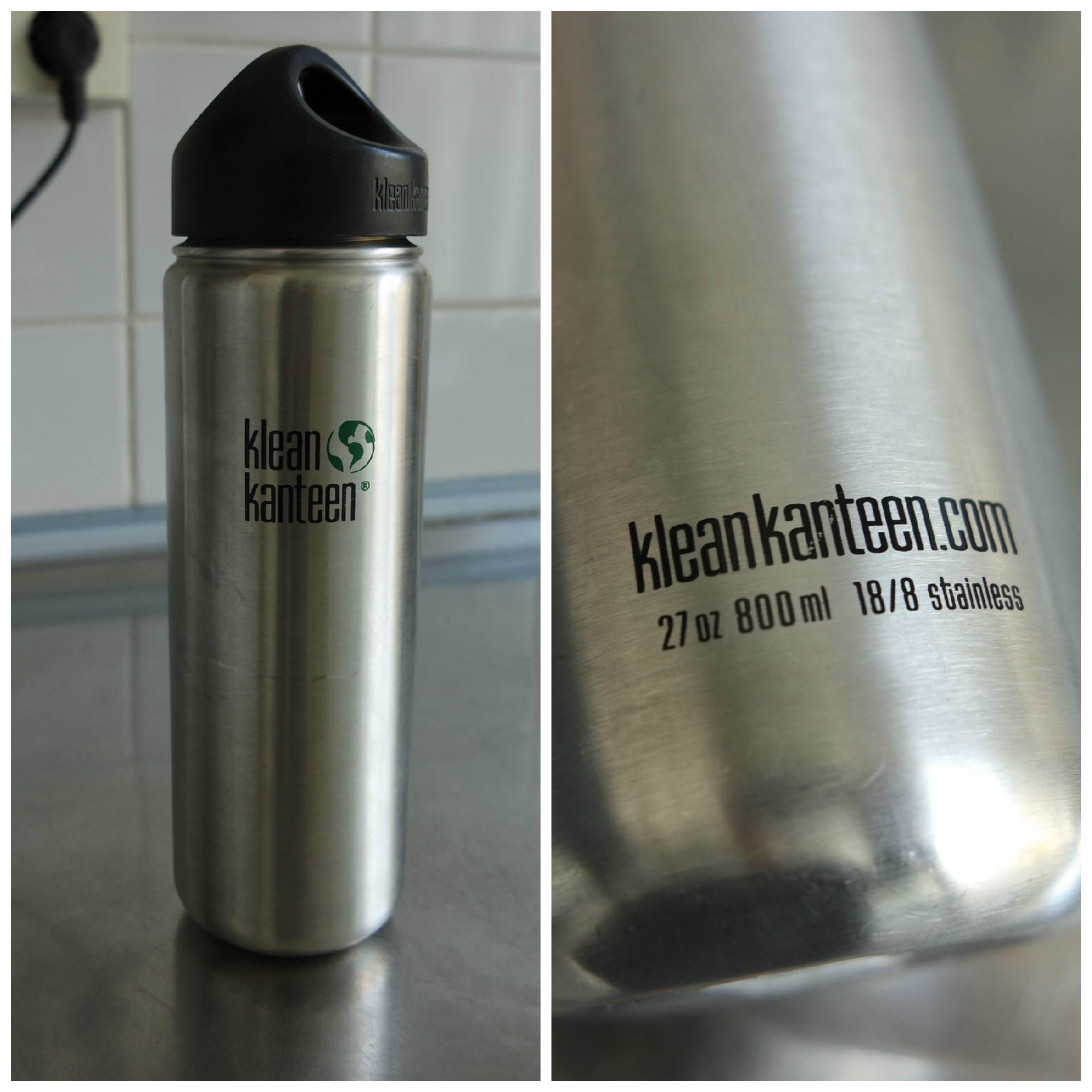 Klean Kanteen Wide 800 ml Stainless Steel water bottle